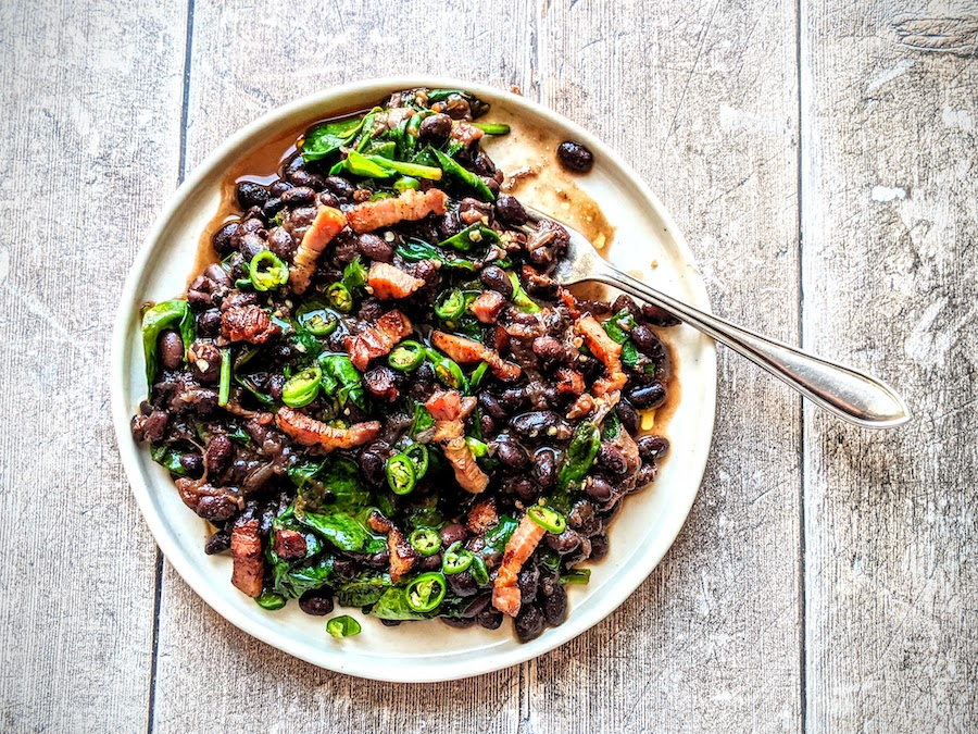 Black Beans and Bacon
