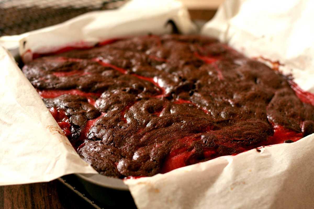 Chocolate and Raspberry Brownies Image