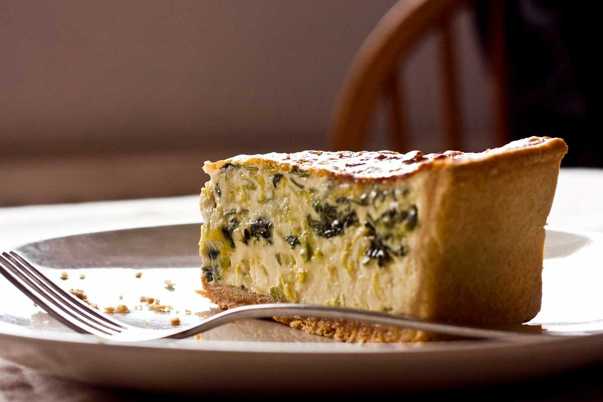 Leek and Roquefort Quiche