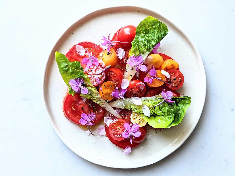 Tomatoes and rosebay willowherb